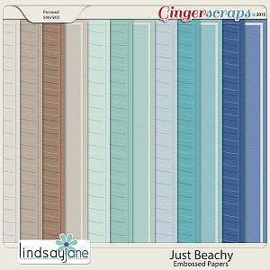 Just Beachy Embossed Papers by Lindsay Jane