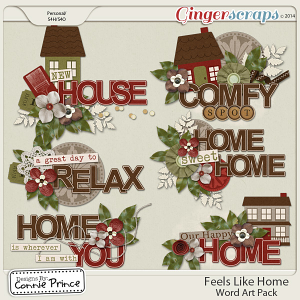 Feels Like Home - Word Art