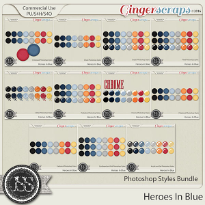 Heroes In Blue CU Photoshop Styles Bundle