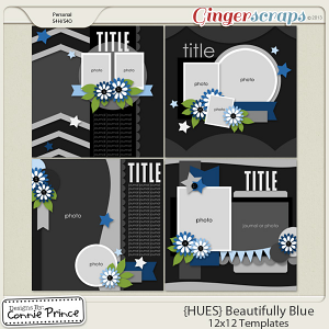 {HUES} Beautifully Blue - 12x12 Temps Vol 1 (CU Ok)