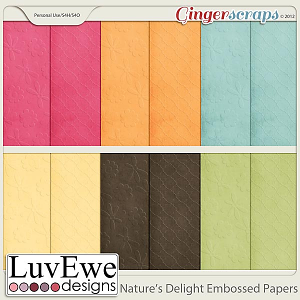 Nature's Delight Embossed Papers