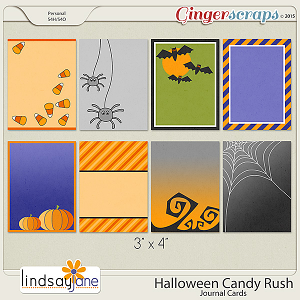 Halloween Candy Rush Journal Cards by Lindsay Jane