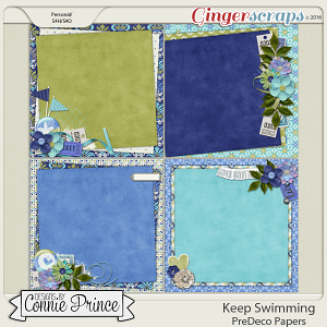 Keep Swimming - PreDeco Papers