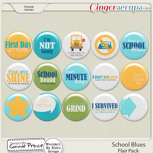 Retiring Soon - School Blues - Flair Pack