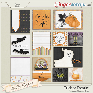 Trick or Treatin' Storyboard Journal Cards
