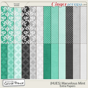 {HUES} Marvelous Mint - Extra Papers