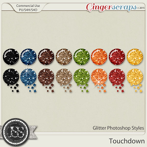 Touchdown CU Glitter Photoshop Styles