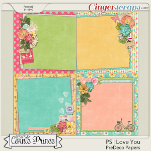 PS..I Love You - PreDeco Papers