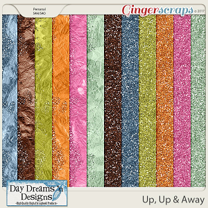 Up, Up, & Away {Glitter Papers} by Day Dreams 'n Designs