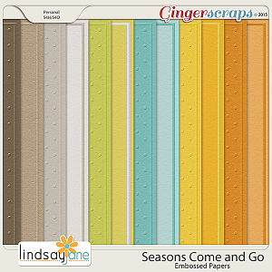 Seasons Come and Go Embossed Papers by Lindsay Jane