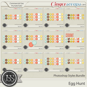 Egg Hunt Photoshop Styles Bundle
