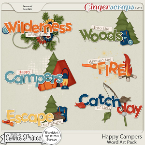 Happy Campers - WordArt Pack