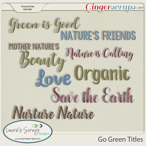Go Green - Titles