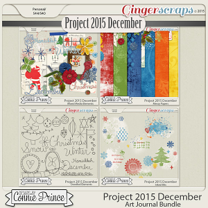 Project 2015 December - Art Journal Bundle