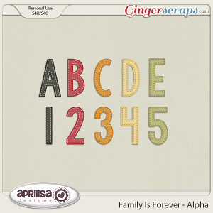 Family Is Forever Alpha by Aprilisa Designs
