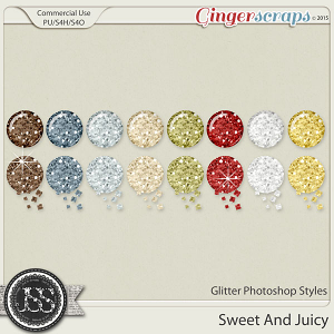 Sweet And Juicy Glitter Photoshop Styles