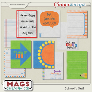 School's Out JOURNAL CARDS