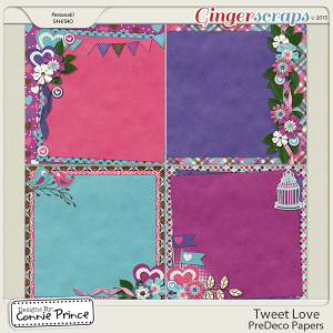 Tweet Love - PreDeco Papers