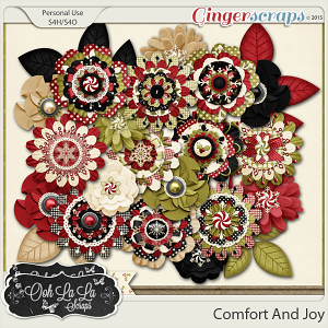 Comfort And Joy Layered Flowers