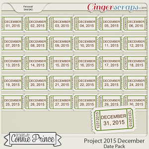 Project 2015 December - Dates