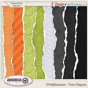 O'Halloween Torn Papers by Aprilisa Designs