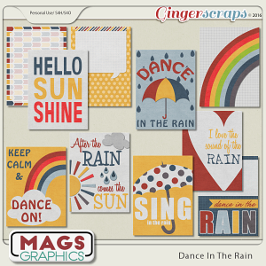 Dance In The Rain JOURNAL CARDS
