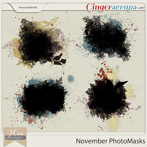 November Photo Masks by JoCee Designs