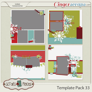 Template Pack 33 - by Scraps N Pieces