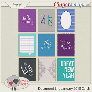 Document Life January 2018 Journal Cards by Luv Ewe Designs
