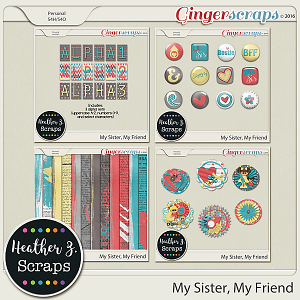 My Sister, My Friend ADD-ONS by Heather Z Scraps