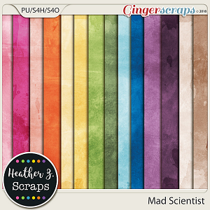 Mad Scientist SOLID PAPERS by Heather Z Scraps