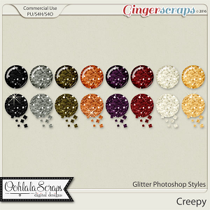 Creepy Glitter CU Photoshop Styles