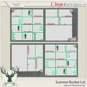 Summer Bucket List Templates by Dear Friends Designs
