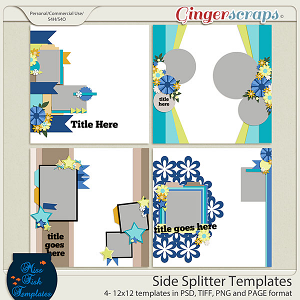 Side Splitter Templates by Miss Fish