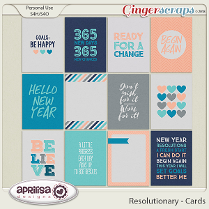 Resolutionary - Cards by Aprilisa Designs