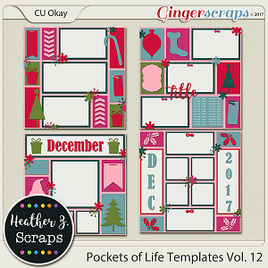 Pockets of Life Templates Vol. 12 by Heather Z Scraps