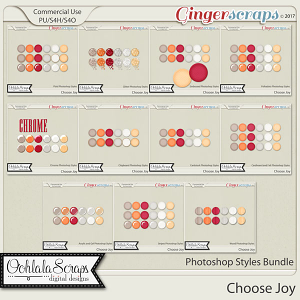Choose Joy CU Photoshop Styles Bundle