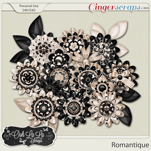 Romantique Layered Flowers by Ooh La La Scraps