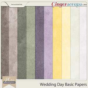 Wedding Day Basic Papers by JoCee Designs