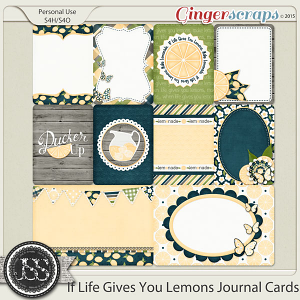 If Life Gives You Lemons Journal and Pocket Scrapbooking Cards