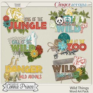 Wild Things - WordArt Pack