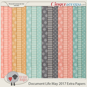 Document Life May 2017 Extra Papers by Luv Ewe Designs