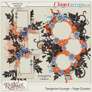 Tangerine Grunge Page Clusters