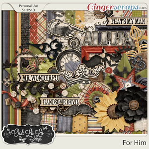 For Him Digital Scrapbooking Kit