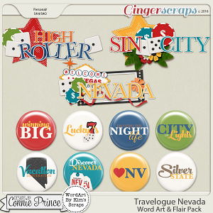 Travelogue Nevada - Word Art & Flair Pack