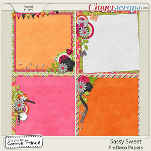 Sassy Sweet - PreDeco Papers
