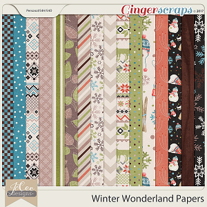 Winter Wonderland Papers by JoCee Designs