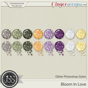 Bloom In Love CU Glitter Photoshop Styles