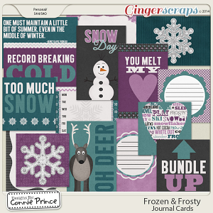 Frozen & Frosty - Journal Cards