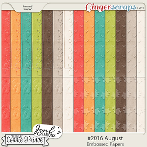 #2016 August - Embossed Papers